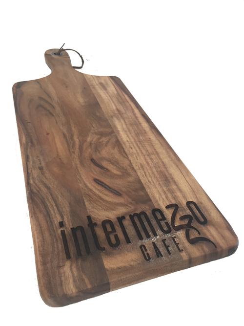 Itermezzo cafe custom chopping board